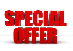 monthly offers page for bargains and special weekend deals