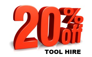 20% tool hire discount festive xmas deal