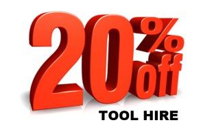 20% tool hire discount festive xmas deal